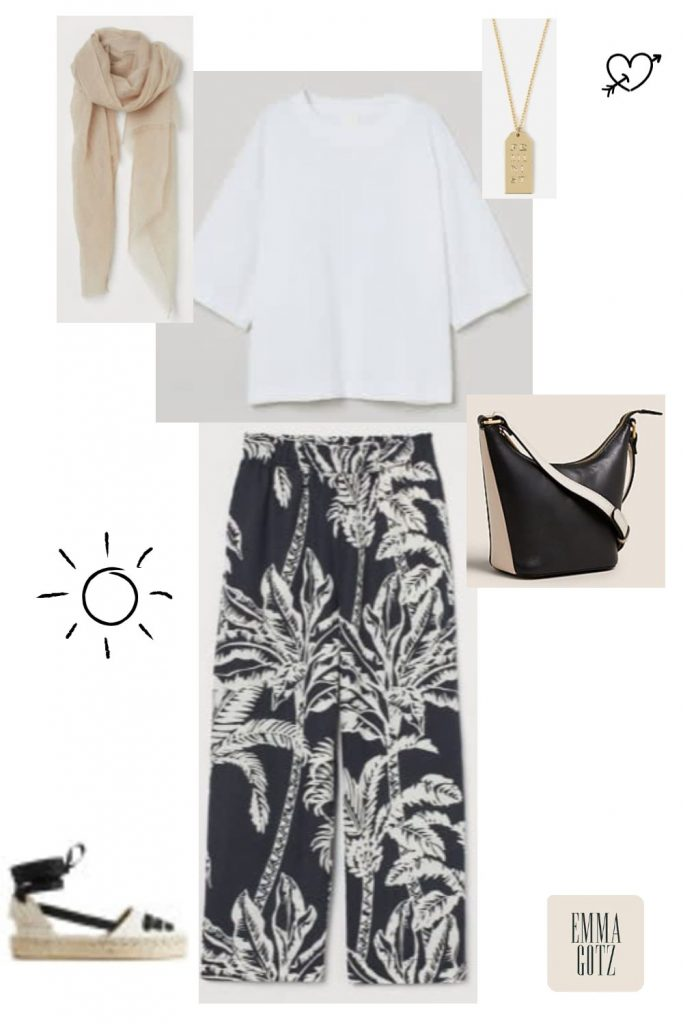summer date outfit trousers women over 50 & 60